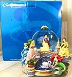 ディズニープリンセス 白雪姫 アリエル オーロラ ベル シンデレラ スノーグローブ スノードーム付きフィギュア オルゴール 置物