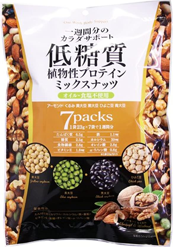 独特の準備すべき低糖質ミックスナッツ 23g×7袋