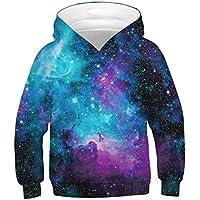 ENLACHIC Girls' Boys' Unicorn Sweatshirt Hoodies Pullover