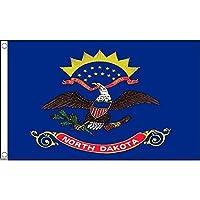 国旗 ノースダコタ州 州旗 アメリカ 米国 特大フラッグ【ノーブランド品】