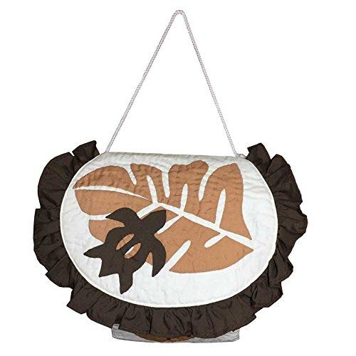 ハワイアンキルト トイレットペーパーホルダー モンステラ×ホヌ ブラウン/ Hawaiian Quilt インテリア雑貨