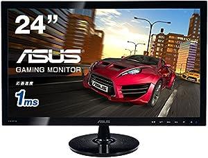 ASUS ゲーミング モニター 24型 フルHDディスプレイ (1,920x1,080 / HDMI, DVI-D, D-sub / ASCRテクノロジー / VESA規格 ) VS248HR