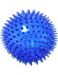 FLAMEER マッサージボール TPR トリガーポイントマッサージ 指圧マッサージ ヨガボール 3サイズ選べ - 青, 12cm