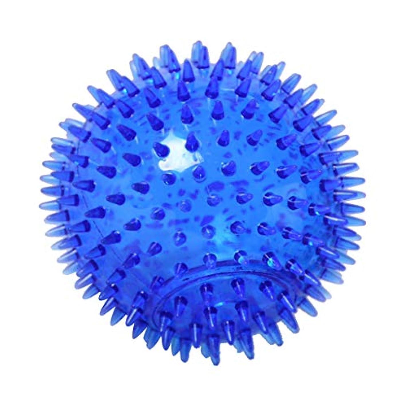 拡張無実緊急マッサージボール TPR トリガーポイントマッサージ 指圧マッサージ ヨガボール 3サイズ選べ - 青, 12cm