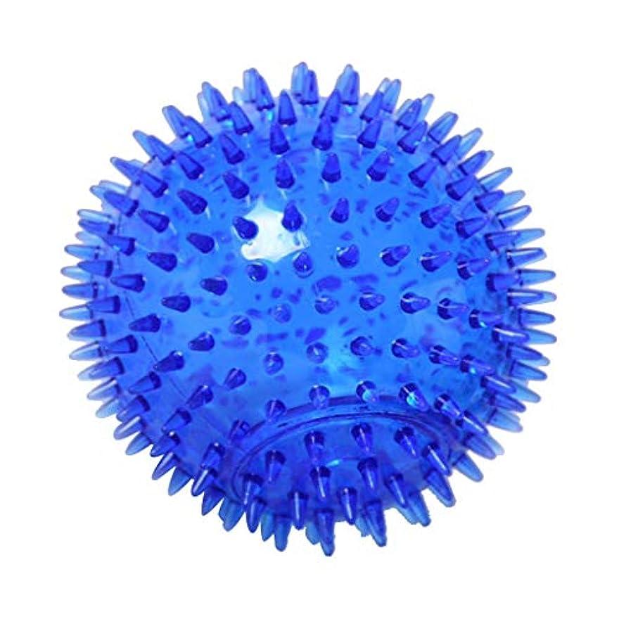 同じ糞麺マッサージボール TPR トリガーポイントマッサージ 指圧マッサージ ヨガボール 3サイズ選べ - 青, 12cm