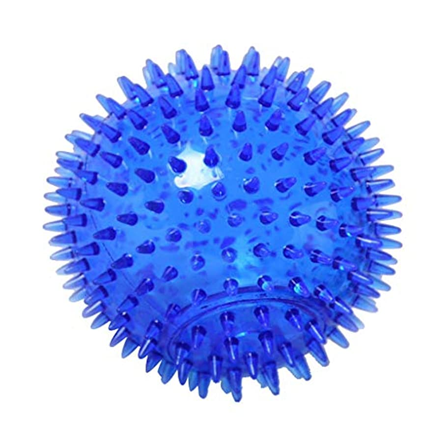 着服繊毛ジャーナルFLAMEER マッサージボール TPR トリガーポイントマッサージ 指圧マッサージ ヨガボール 3サイズ選べ - 青, 12cm