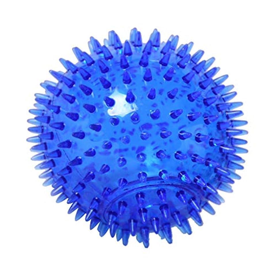 シリンダー失礼に渡ってマッサージボール TPR トリガーポイントマッサージ 指圧マッサージ ヨガボール 3サイズ選べ - 青, 12cm