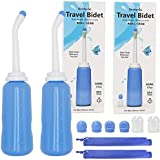 Luxerlife 2PCS Portable Bidet Sprayer, 500ml Travel Bidet Sprayer with Storage Bag, 17oz Handheld Personal Bidet Empty Bottle