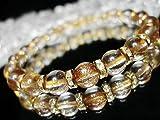 [イシガイ] isigaii 超綺麗人気アイテム砂金ルチル約8ミリロンデル数珠 天然石パワーストーン数珠ブレスレット
