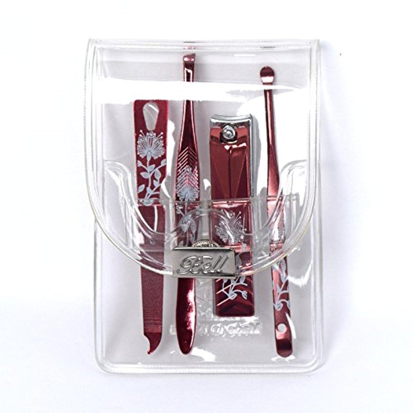 コーラストチの実の木クラシカルBELL Manicure Sets BM-991C ポータブル爪ケアセットトラベル爪切りセットステンレス鋼の失速構成透明高周波ケースPortable Nail Clippers Nail Care Set