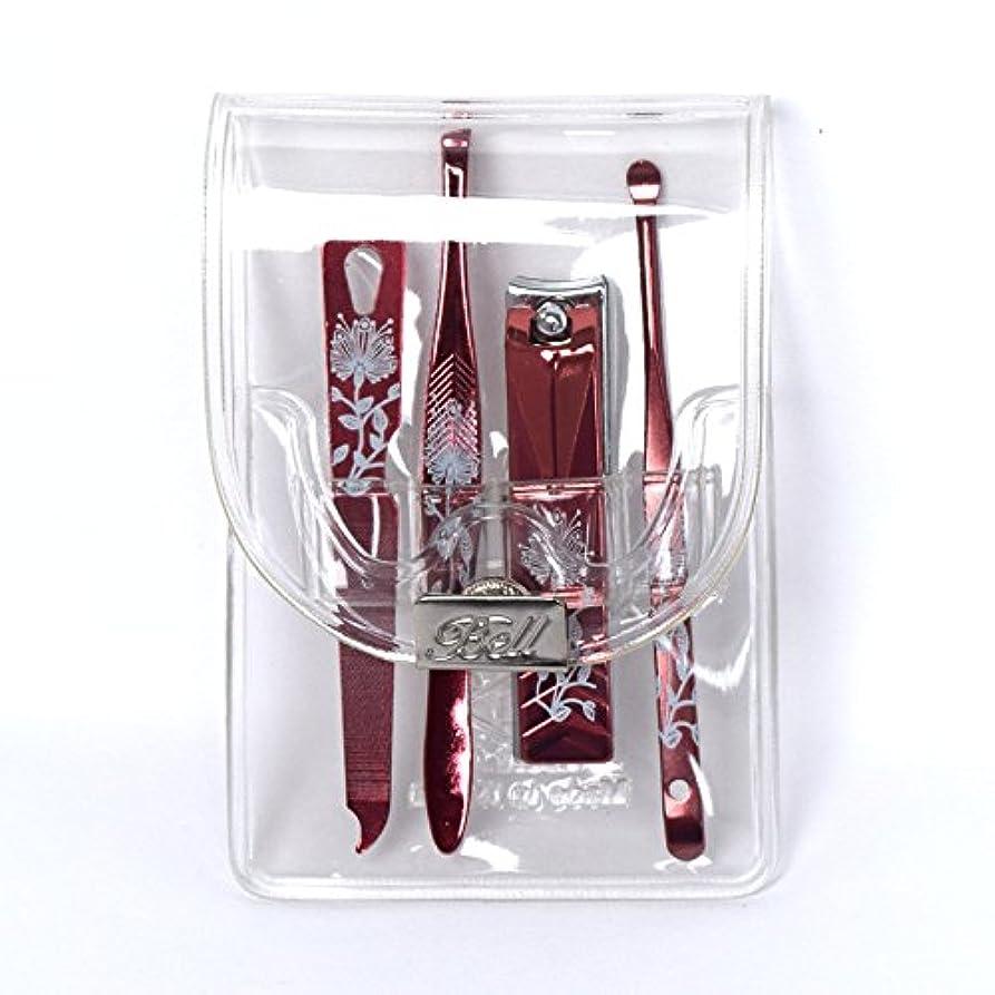 穿孔する指導する毒BELL Manicure Sets BM-991C ポータブル爪ケアセットトラベル爪切りセットステンレス鋼の失速構成透明高周波ケースPortable Nail Clippers Nail Care Set