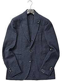 LARDINI (ラルディーニ) テーラードジャケット ホップサック 段返り3B/コットン【春夏】【メンズ】【並行輸入品】