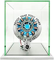 LONYIABBI 1:1 Iron Man Arc Reactor モデル 完成品 アイアンマン アーク リアクター LEDライト マーベル Marvel DIY USB給電 防塵展示箱付き