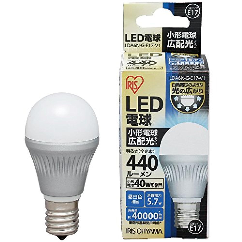 アイリスオーヤマ LED電球 口金直径17mm 40W形相当 昼白色 広配光タイプ 密閉形器具対応 LDA6N-G-E17-V1