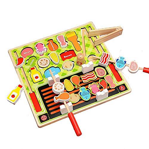 知育玩具 おままごと ごっこ遊び 木製 食べ物 調理ごっこ ...