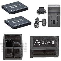 2DMW - bck7用バッテリーPanasonic Lumix DMC - dmc-fh2、dmc-fh24、fh25、fh27、dmc-fh4、fp5、fh6、dmc-fp7、dmc-fh8カメラデジタルカメラ+車/ホーム充電器+ acuvarバッテリーポーチ