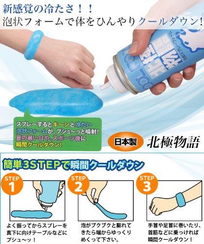 日本テレビ「ヒルナンデス」で紹介されました!瞬間クールダウン 暑さ対策 クールビズ 冷感 冷却スプレー 冷却泡スプレー 北極物語