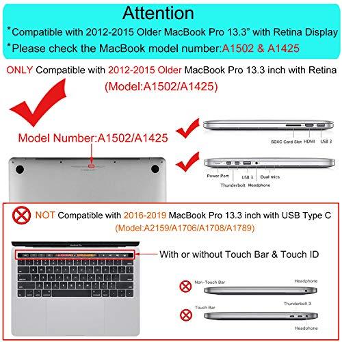 『MOSISO PUレザーケース MacBook Pro 13インチRetinaディスプレイ CD-ROMなし ブックカバー スタンド機能付きフォリオスリーブ MacBook Retina 13 Inch (A1425 and A1502) ゴールド MO-R13-PU-11RG』の1枚目の画像