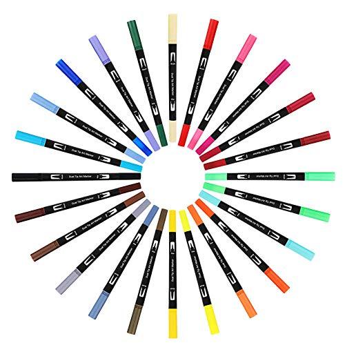【カラフル筆ペンで毎日を彩ろう】人気のカラー筆ペンおすすめ10選のサムネイル画像