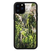 iPhone 11 Pro Max 用 強化ガラスケース クリア 薄型 耐衝撃 黒 カバーケース イタリア語 バチカン庭園ヨーロッパの歴史的建造物で有名な記念碑の絵がプリントされています タンホワイトグリーン iPhone 11 Pro 2019用 iPhone11 Proケース用