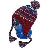 子供用 ニットキャップ キッズ ジュニア 男の子 女の子 スキー用 ニット帽子 fo-ncap1000aレッド