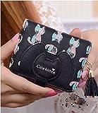 【 CandyBox 】 お財布 ネコ 二つ折り コインケース 小銭入れ (ブラック) …