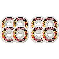 Labeda Wheels 80Mm 94A Extremeハードホワイト8- Pack InlineアウトドアHockey
