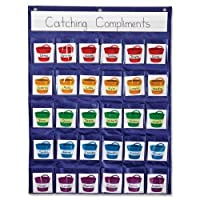 Wholesale CASE of 10–Carson配筋ポケットチャート–配筋ポケットチャート、22x 29インチ、Assorted
