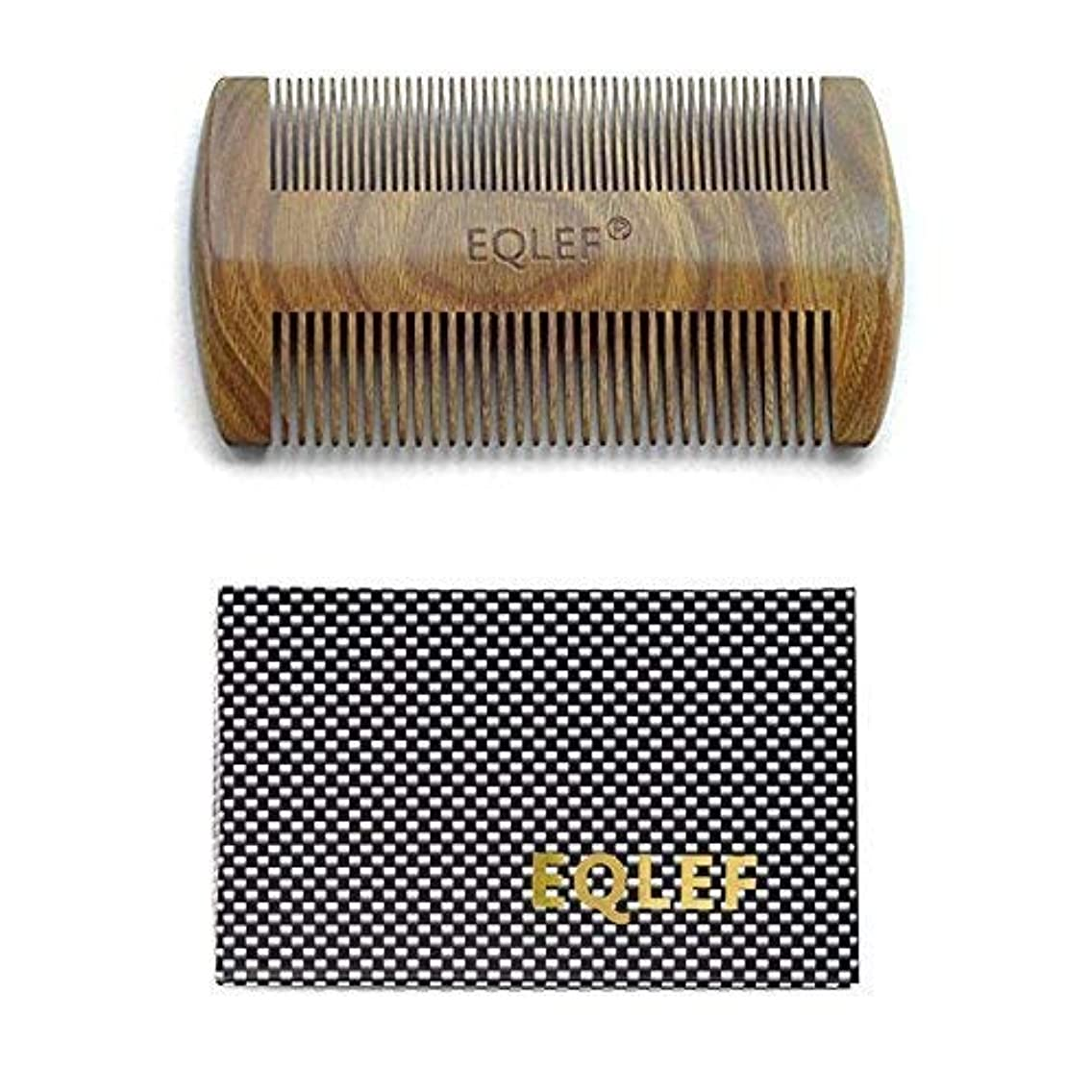 EQLEF? Green sandalwood no static handmade comb,Pocket comb (beard) [並行輸入品]