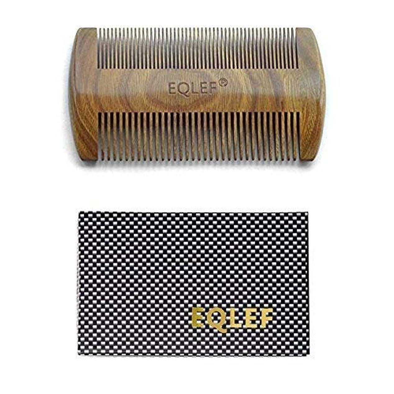 大理石蓄積する牛肉EQLEF? Green sandalwood no static handmade comb,Pocket comb (beard) [並行輸入品]