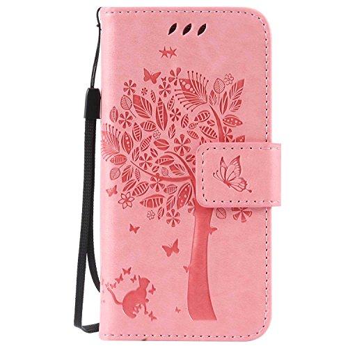 Galaxy S4 Mini ケース CUSKING 手帳型ケース 高品質 PUレザー カードポケット全面保護 フリップ カバー 落下防止 衝撃吸収 財布型 ギャラクシ S4 Mini 対応 - ピンク