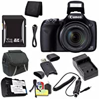 Canon PowerShot sx530HSデジタルカメラ(ブラック) (インターナショナルモデル保証なし) + NB - 6lバッテリー+外部充電器+ 16GB SDHCカード+ケース+ Mini HDMIケーブル+カードリーダーセーバーバンドル