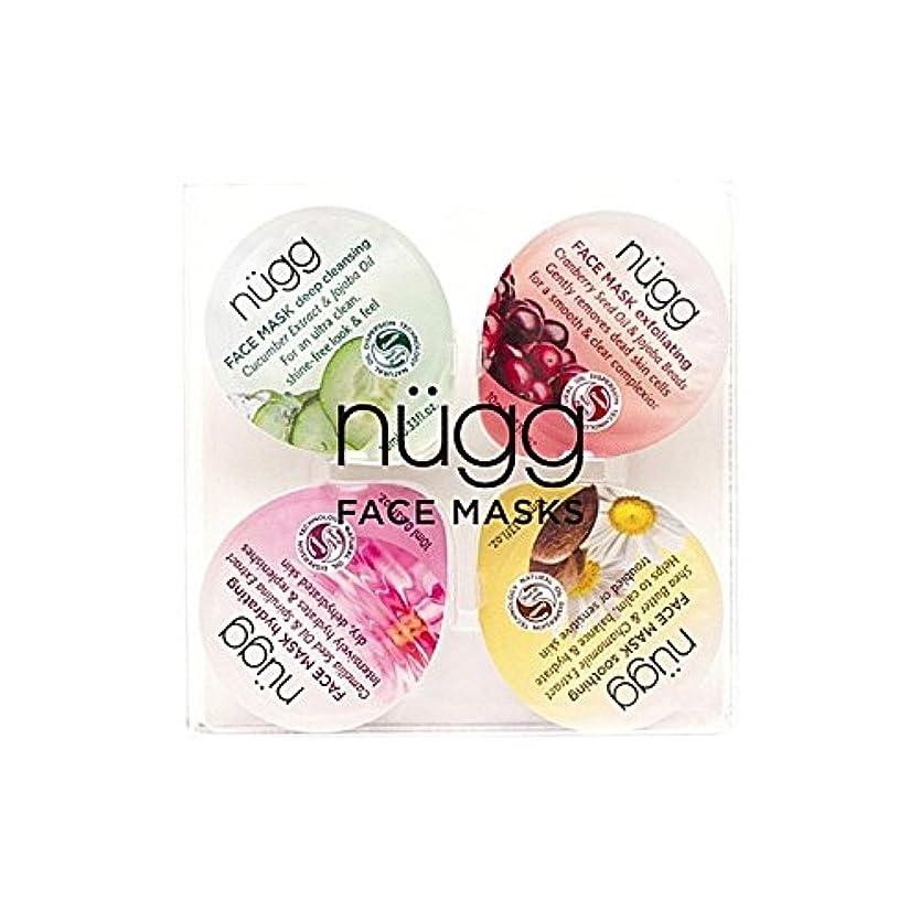 実験的ジャーナリストスポンジフェイスマスクセット x4 - Nugg Face Mask Set (Pack of 4) [並行輸入品]