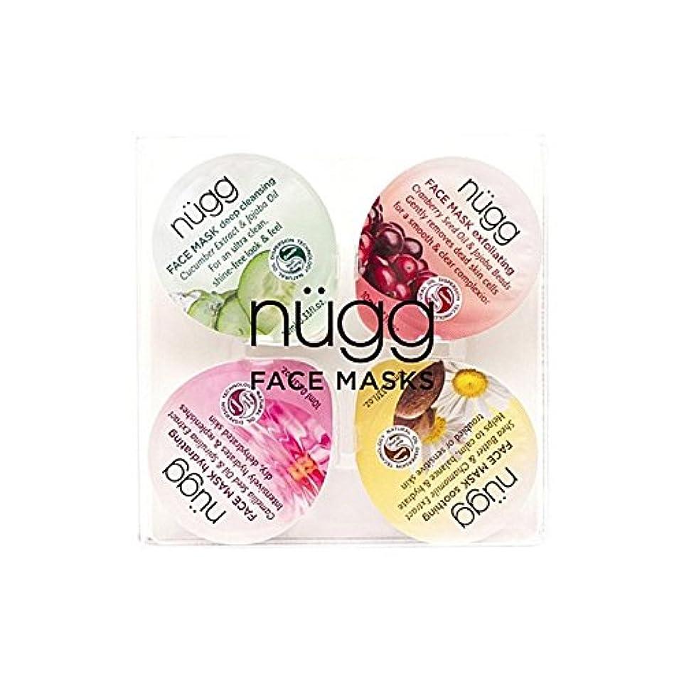 円形の軽食部族フェイスマスクセット x4 - Nugg Face Mask Set (Pack of 4) [並行輸入品]