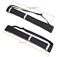 Atopxing 2PCS Reverse Umbrella Carry Bags, Double Layer Inverted Umbrella Storage Bag, Waterproof and Anti-Dust Reversible Umbrella Cover with Adjustable Shoulder Strap and Reflective Safety Stripes.
