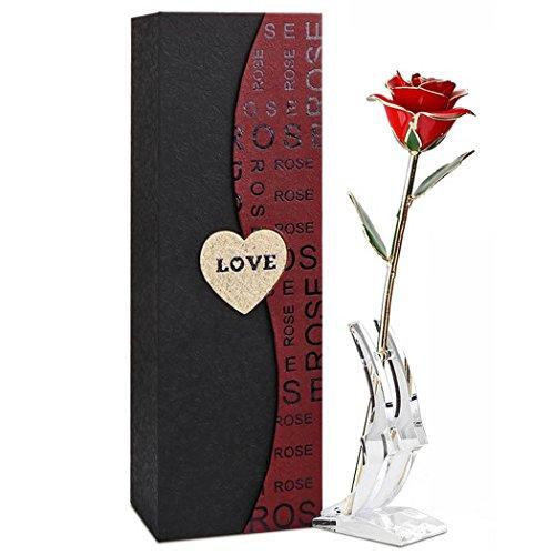 プレゼントローズ 24 K Funpa 純金箔のバラ クリエイティブ母の日ギフト バレンタインの日ギフト ギフトボックス入り