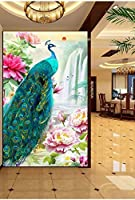 Bzbhart カスタム任意のサイズの壁画壁紙豊かで美しい孔雀ポーチ背景壁画壁紙-250cmx175cm