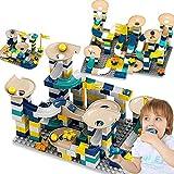 St. Lun 80-168 PCS Educational Toy Ball Rolling Track Building Blocks Duplo Compatible Bricks Toys (Color : 16 * 16-light gre