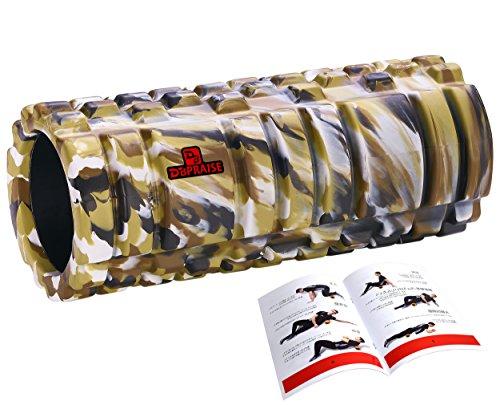 DB Praise フォームローラー Foam Roller 9色 スポーツ トレーニング ストレッチ 器具 解説書付き (G Camo)