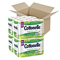 Cottonelle GentleCare with Aloe & Vitamin E Double Roll Toilet Paper, Bath Tissue, 12 Count by Cottonelle