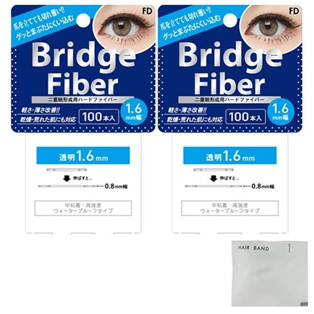 自動的に迫害する取り替えるFD ブリッジファイバーⅡ (Bridge Fiber) クリア1.6mm×2個 + ヘアゴム(カラーはおまかせ)セット
