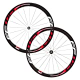 FFWD(ファストフォワード) F4R(45mm) DT180 Carbon Ceramic Hub Tubular(チューブラー ) Wheelset(ホイールセット) - Red/White [Shimano/Sram 11S] [並行輸入品]