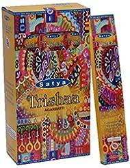 Satya Trishaa Incense Sticks 15グラムパック、12カウントin aボックス