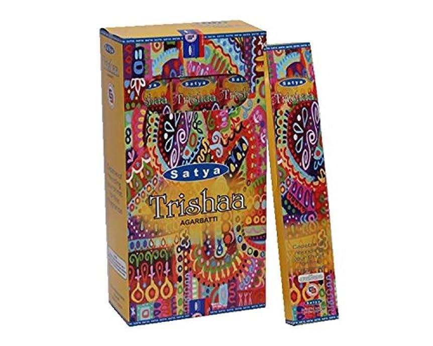 日社交的詩Satya Trishaa Incense Sticks 15グラムパック、12カウントin aボックス