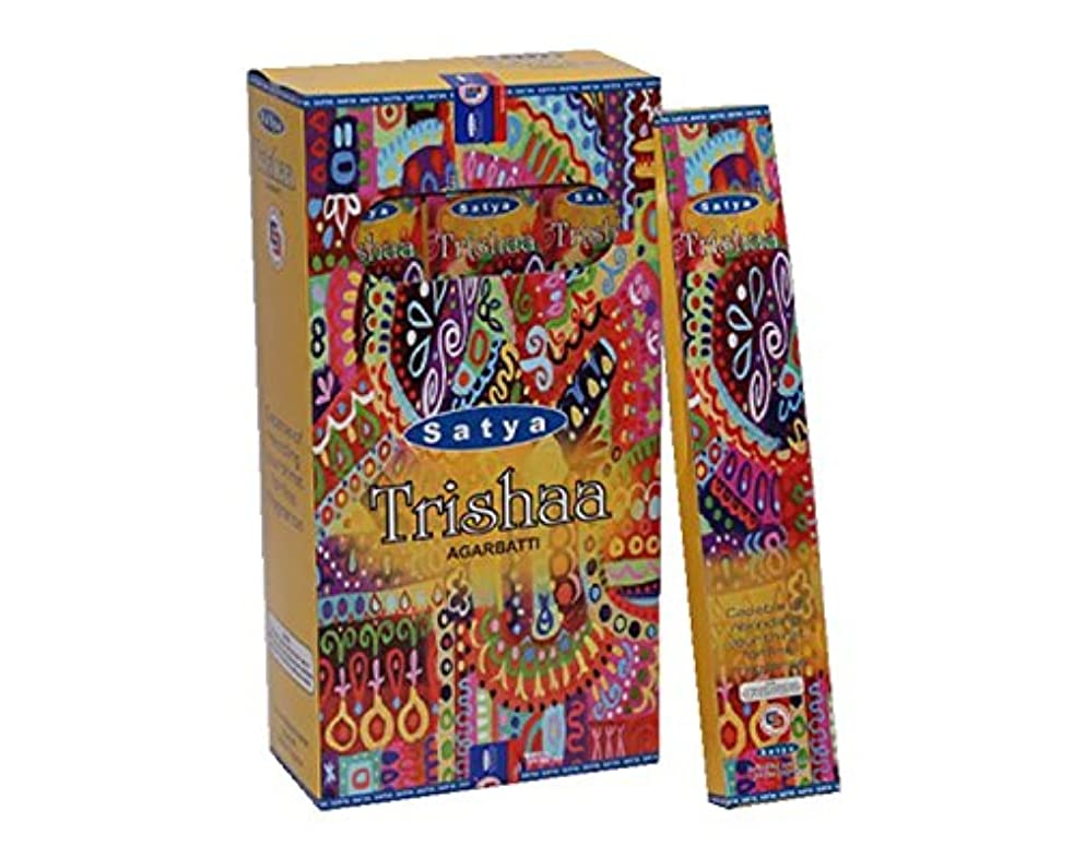 言及する関数接尾辞Satya Trishaa Incense Sticks 15グラムパック、12カウントin aボックス