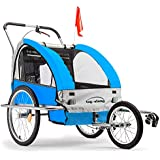 Tag-Along Kids Bike Trailer and Jogger, Red