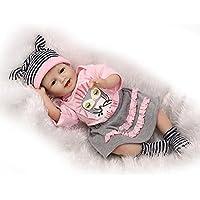 Rebornベビーガール人形22インチLifelike新生児ソフトシリコン赤ちゃんおもちゃwith Clothes