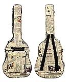 ギター用 キャリーバッグ 英文字 デザイン ニュースペーパー