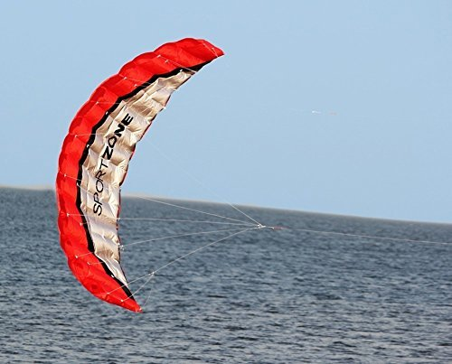 Huya Force カラフルな3次元凧 スポーツカイト 大人子供 レジャーアウトドア 旅行 遊ぶ オールシー ズン 凧ツールと収納袋が含まれています-日本語説明書 (赤)