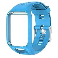 Betterm時計バンドシリコン交換リストバンドストラップfor TomTom Runner 23Spark 3GPS Watch ホワイト
